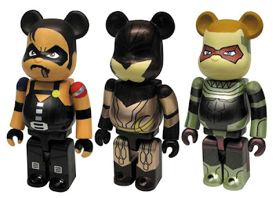 Watchmen 100% Be@rbrick Set A - The Comedian, Nite Owl II &amp; Ozymandias Be@rbricks