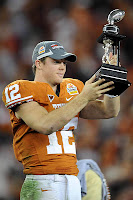 The University of Texas Junior Quarterback Colt McCoy Is Named Offense Player of the 2008 Fiesta Bowl Game