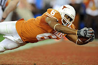 The University of Texas Senior Wide Receiver Quan Cosby Scoring The Game Winning TD at the 2009 Fiesta Bowl