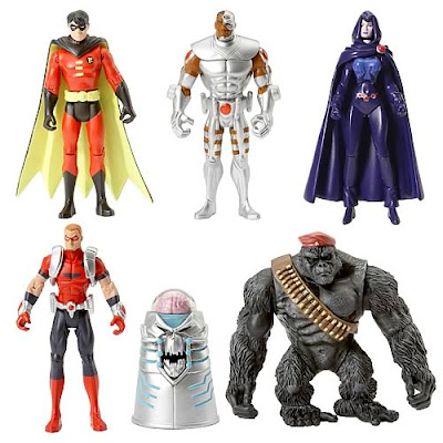 DC Universe Infinite Heroes Teen Titans 6 Pack: Mallah&#8217;s Revenge - Robin, Cyborg, Raven, Arsenal, The Brain & Monsieur Mallah