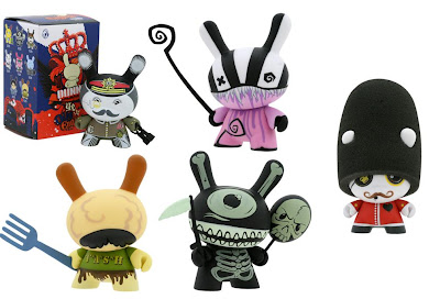 Ye Olde English UK Dunny Series - ilovedust, Doktor A, McFaul, Triclops & Mimic Dunnys