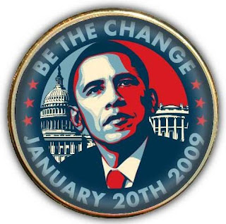 Barack Obama 2009 Presidential Inauguration Be The Change Pin by OBEY Giant's Shepard Fairey