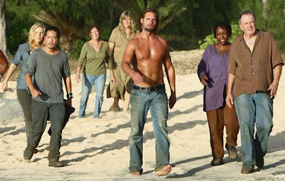 Lost Season 5 - Elizabeth Mitchell, Ken Leung, Josh Holloway, L. Scott Caldwell and Sam Anderson