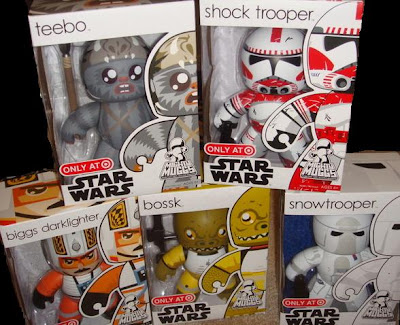 Target Exclusive Star Wars Mighty Muggs Wave - Teebo, Shock Trooper,Biggs Darklighter, Bossk, & Snowtrooper