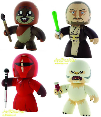 Star Wars Mighty Muggs Wave 8 - Wicket the Ewok, Qui-Gon Jin, Emperor's Royal Guard & a Wampa