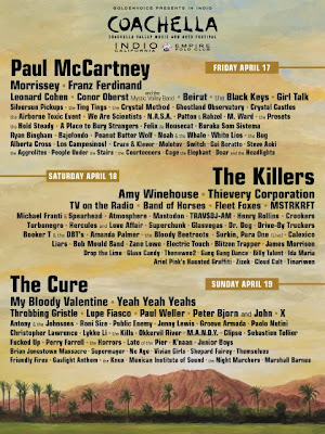 The 2009 Coachella Music and Arts Festival Line-Up Poster