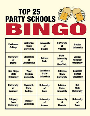 How I Met Your Mother - Barney Stinson's Top 25 Party Schools Bingo