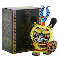 Kidrobot - 8 Inch Jaguar Warrior Dunny and Packaging by Jesse Hernandez