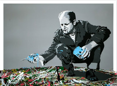 Jackson Pollock Print by Mr. Brainwash