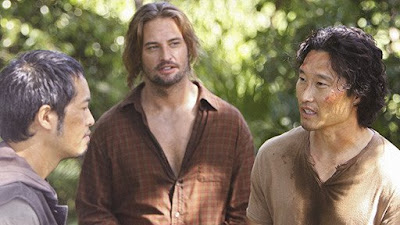 Lost - LaFleur - The Time Lost Losties (Ken Leung as Miles Straume, Josh Holloway as James Sawyer Ford & Daniel Dae Kim as Jin Kwon)