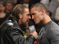 WWE - WrestleMania XXV Headliners WWE Champion Triple H and Randy Orton