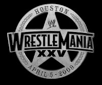 WWE - WrestleMania XXV in Houston, Texas on April 5, 2009 logo