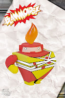 DC Comics Blammoids! Series 1 Vinyl Figures - Firestorm Blammoid