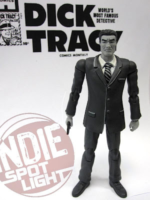 Shocker Toys Indie Spotlight Comic Book Heroes Toy Line - SDCC 2009 Exclusive Dick Tracy Black and White Standard Action Figure