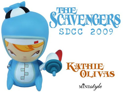 MINDstyle - San Diego Comic Con 2009 Exclusive The Scavengers Cosmic Pennie Vinyl Figure by Kathie Olivas