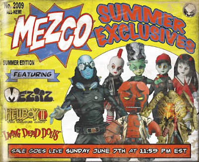 Mezco Toyz Summer Exclusives - Mez-Itz, Hellboy II: The Golden Army, Living Dead Dolls