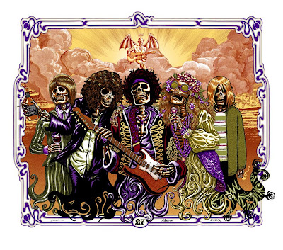 Post Neo Explosionism - The 27 Club (Regular Edition) Print by Justin Hampton, Emek & Jermaine Rogers