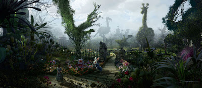 Tim Burton's Alice In Wonderland First Look - Alice and the White Rabbit