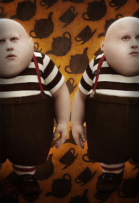 Tim Burton's Alice In Wonderland Promotional Photos - Matt Lucas as Tweedledee and Tweedledum