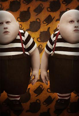 Tim Burton's Alice In Wonderland Promotional Photos - Matt Lucas as Tweedledee and Tweedledum