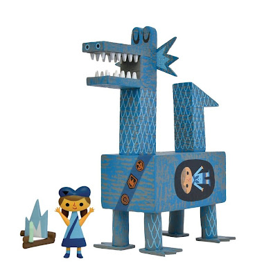 7 Inch Blue Switcheroo! Exclusive Dragon Scout Vinyl Toy by Amanda Visell