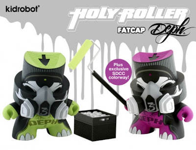 Kidrobot - San Diego Comic Con 2009 Exclusive Holy Roller 6 Inch FatCap by DEPH