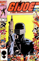 G.I. Joe: A Real American Hero Issue Number 53 - Marvel Comics 25th Anniversary Cover Artwork featuring Snake Eyes