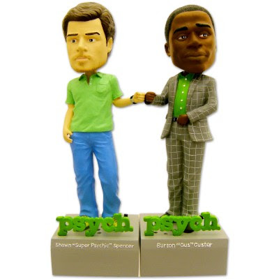 San Diego Comic Con 2009 Exclusive Psych Shawn and Gus Talking Bobblehead Set