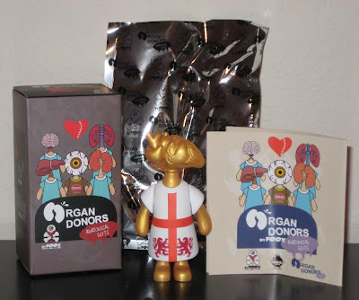 Organ Donors by Foox - Lion Heart Vinyl Figure and Packaging
