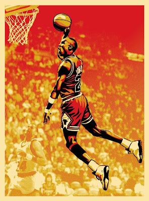 Upper Deck x OBEY Giant Michael Jordan Screen Print Number 1 by Shepard Fairey