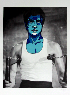 David Flores - Bruce Lee Blue Screen Print