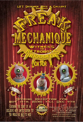 Freak Mechanique Exhibition - Lift Exclusive Doktor A. Mad&#8217;l Vinyl Figure Teaser Image