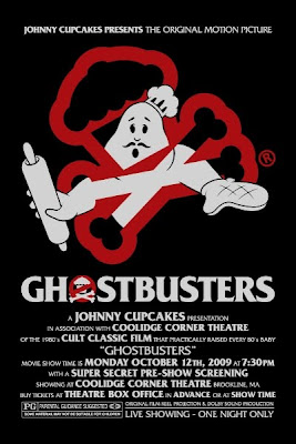 Johnny Cupcakes Ghostbusters Screening on Monday, October 12, 2009 at the Coolidge Corner Theater Promoitional Poster