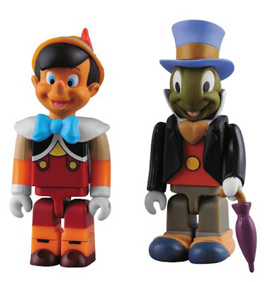 Medicom x Disney Pinocchio Kubrick 2 Pack - Pinocchio & Jiminy Cricket 100% Kubrick Vinyl Figures