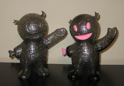 Super7 - Unpainted and Painted Clear Smoke Grey with Glitter Mummy Boys