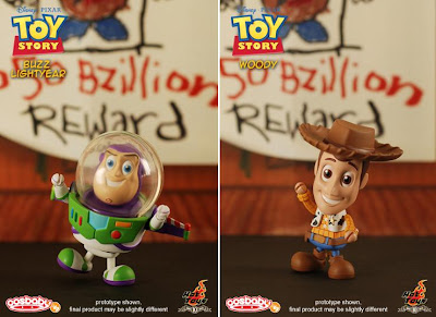 Toy Story CosBaby 3 Inch Vinyl Figures by Hot Toys - Buzz Lightyear & Woody