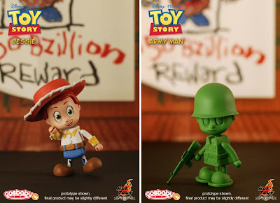 Toy Story CosBaby 3 Inch Vinyl Figures by Hot Toys - Jessie & Army Man