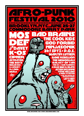 AFRO-PUNK Festival 2010 Print by Jermaine Rogers