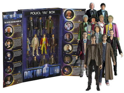 Doctor Who Eleven Doctors Action Figure TARDIS Box Set
