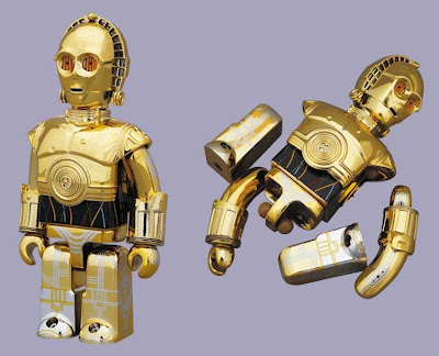 Star Wars x Medicom C-3PO 100% Kubrick with Removable Limbs