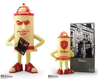 STRANGEco x Obey Giant Red Mr. Spray Vinyl Figure by Shepard Fairey