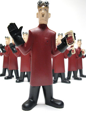 San Diego Comic-Con 2010 Exclusive 5 Inch Dr. Horrible Evil League of Evil Edition Custom Vinyl Figure by Jenny Wolf