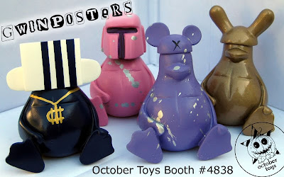 San Diego Comic-Con 2010 Exclusive Gwinposters Bootleg Resin Figures by October Toys
