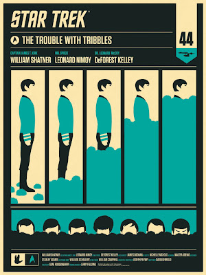 "Star Trek ""The Trouble With Tribbles"" Spock Edition Screen Print by Olly Moss"