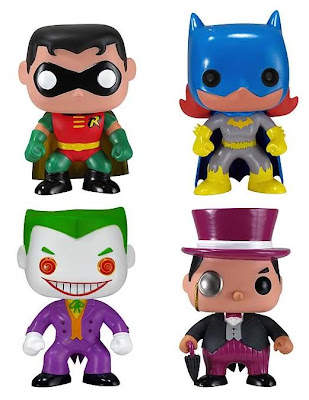 DC Universe Batman Mini Funko Force Vinyl Figures by Funko - Robin, Batgirl, The Joker & The Penguin