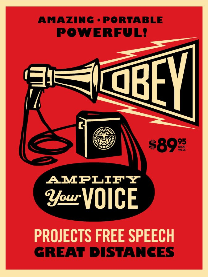 Obey Giant - Megaphone Screen Print by Shepard Fairey