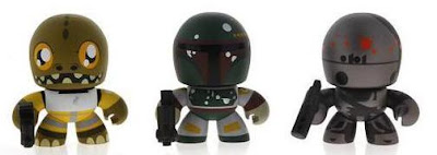 Star Wars Mini Mighty Muggs Bounty Hunters 3-Pack - Bossk, Boba Fett & IG-88