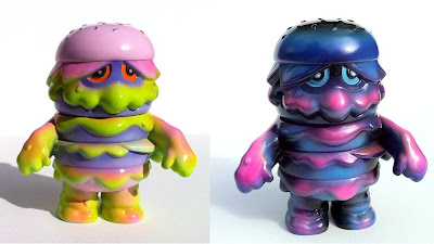 Custom Hand Airbrushed Patty Power 4 Inch Vinyl Figures by Arbito