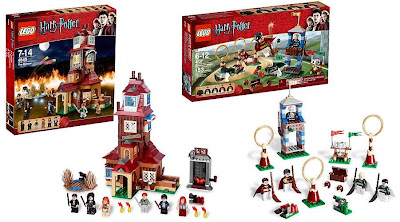 LEGO Harry Potter Sets - The Burrows and Quidditch Lesson