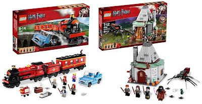 LEGO Harry Potter Sets - Hogwart's Express and Hagrid's Hut